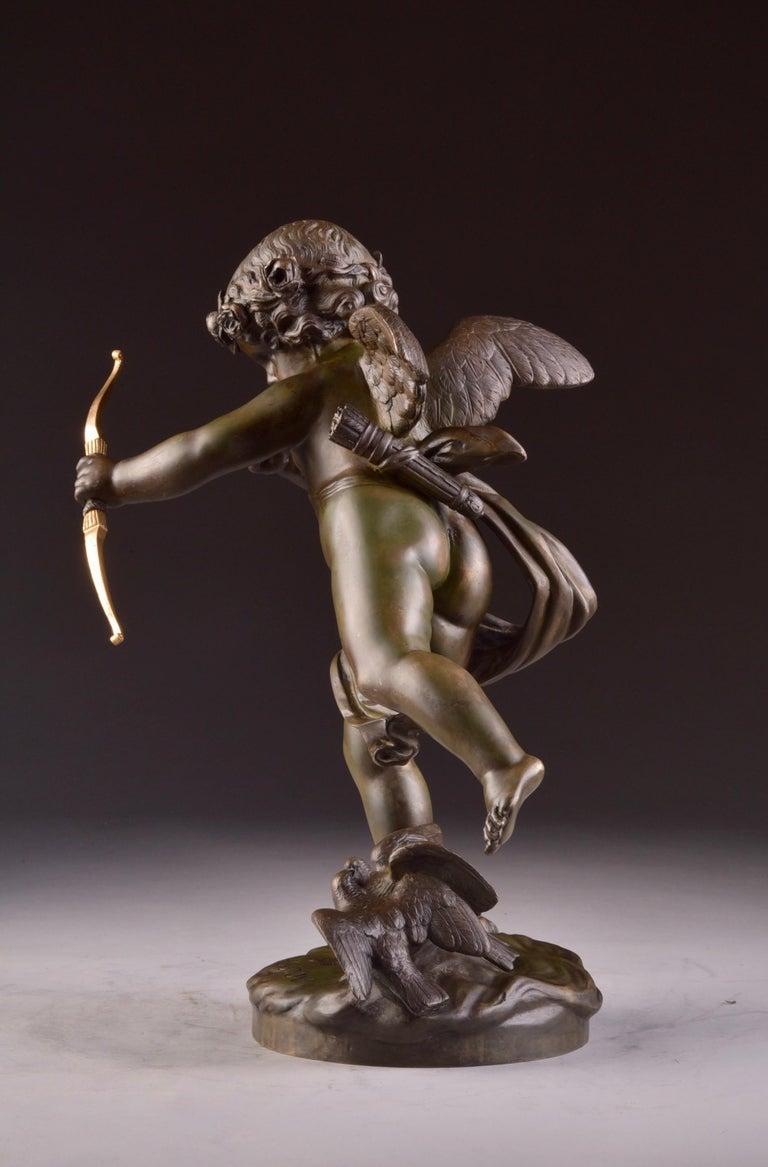 Elegant and Large Cupid Pendulum, Houdon, 'French' For Sale 1