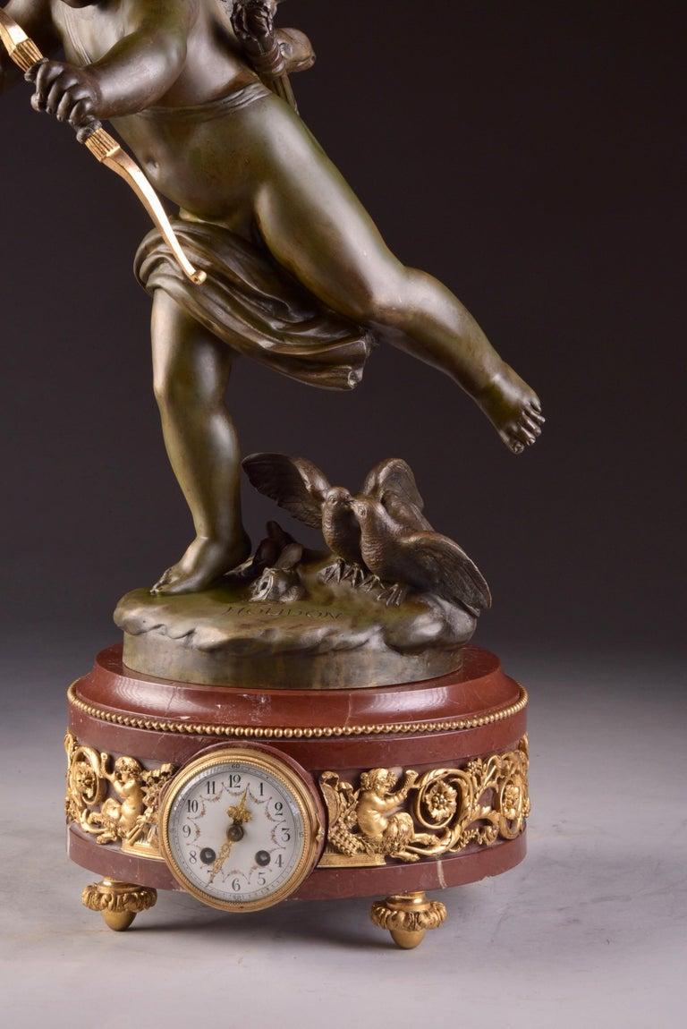 Elegant and Large Cupid Pendulum, Houdon, 'French' For Sale 2