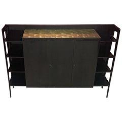 Elegant and Large Dark Mahogany Sideboard, Italy, circa 1950-1960