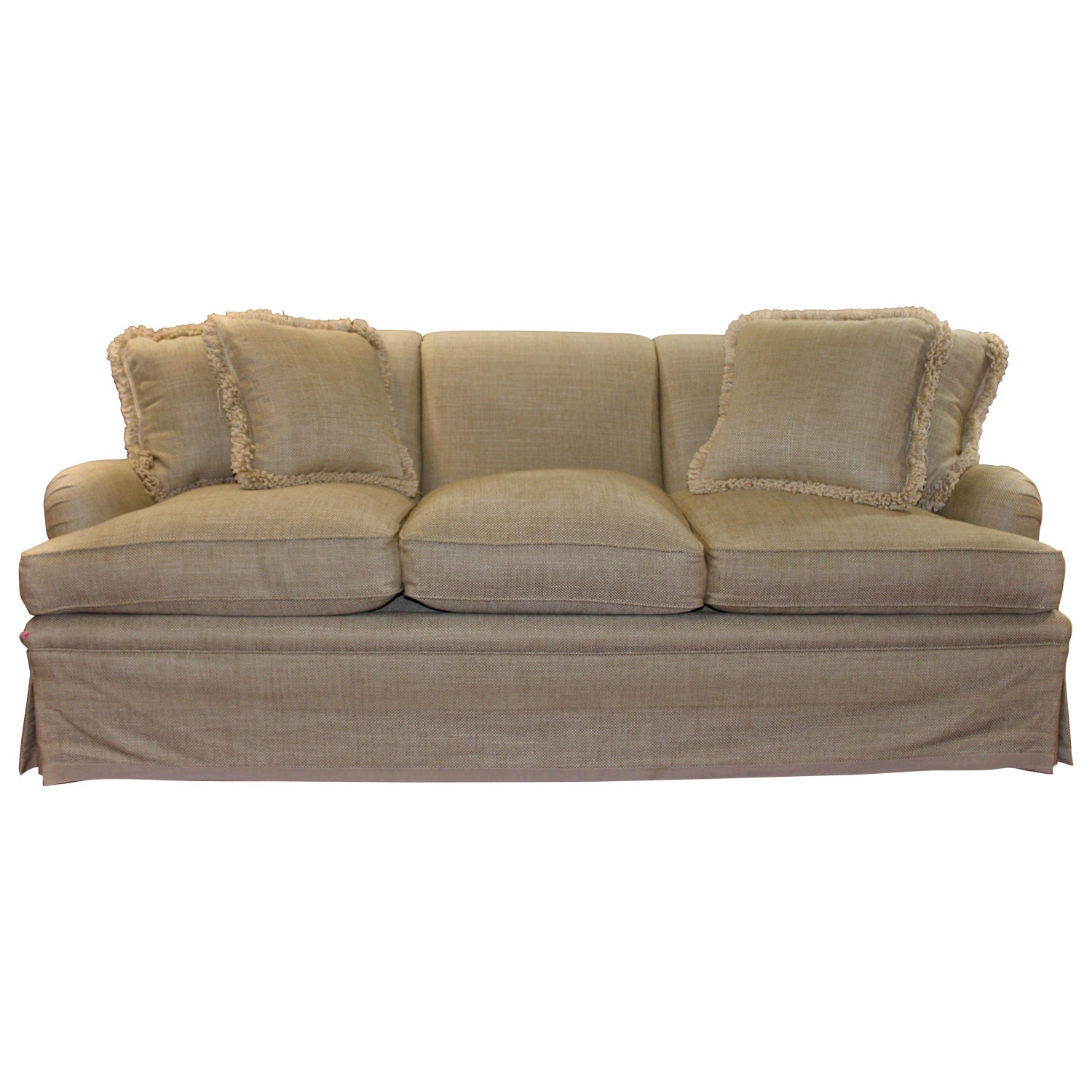 Elegant And Very Comfortable Bridgewater Style Sofa In Off White Linen
