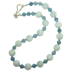 Gemjunky Elegant Aquamarine and more Aquamarine Necklace