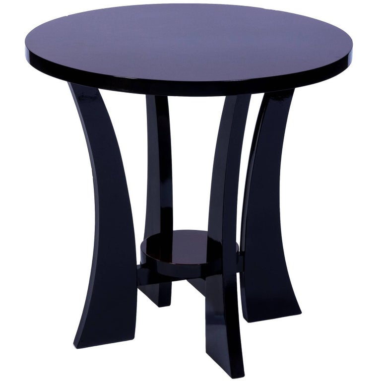 Elegant Art Deco Round Side Table