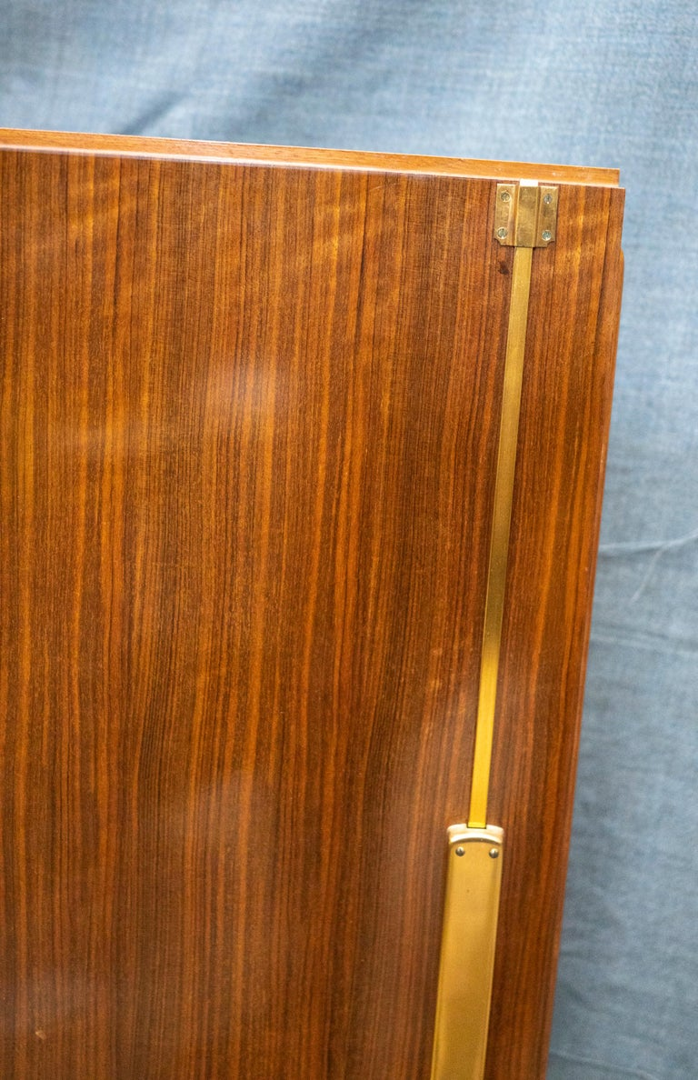 Elegant Art Deco Sycamore Marquetry Cabinet by Jules Leleu For Sale 4