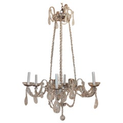 Elegant Baguès Rock Crystal Silver Beaded Crystal Modern Transitional Chandelier