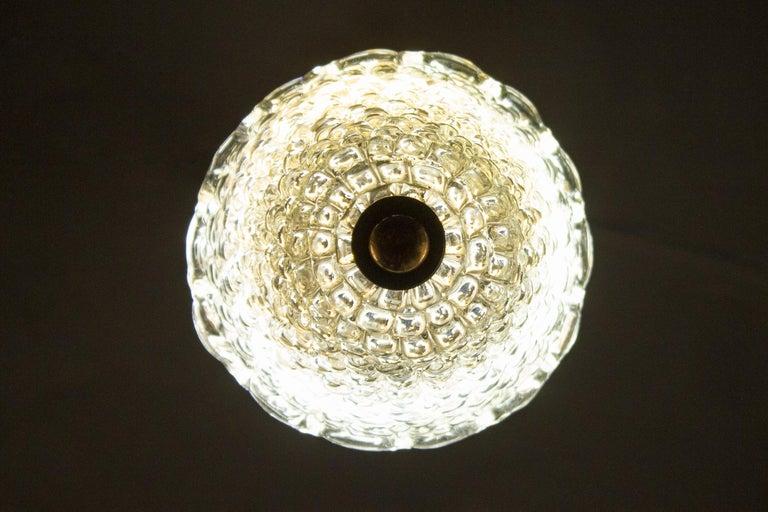 Elegant Barovier Hand Blown Glass Pendant Lantern, 1930s For Sale 4