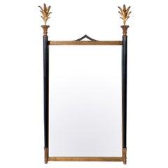Elegant Black and Gilt Neoclassical Mirror by Palladio