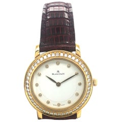 Elegant Blancpain Villeret Ladies Watch in Gold with Diamonds
