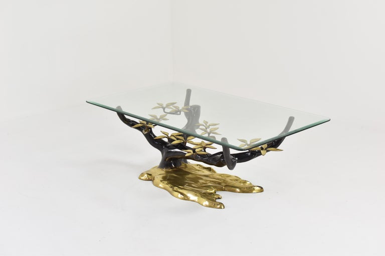 Mid-Century Modern Elegant Bonsai Tree Coffee Table by Willy Daro, Belgium, 1970s For Sale