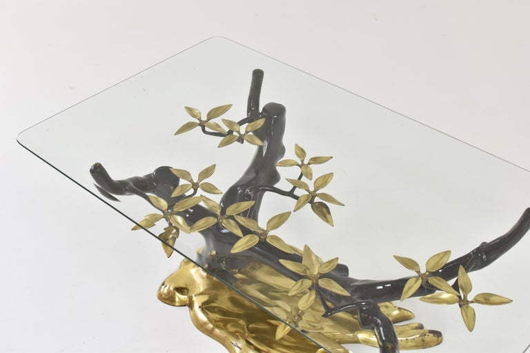 Elegant Bonsai Tree Coffee Table by Willy Daro, Belgium, 1970s In Good Condition For Sale In Antwerp, BE