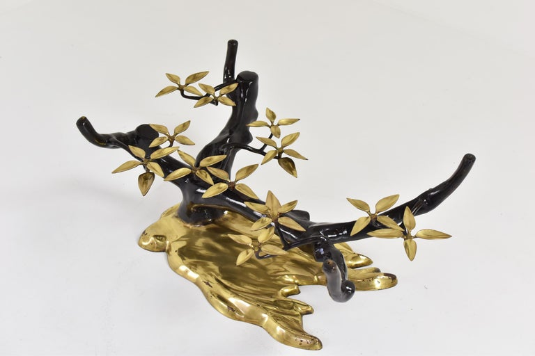 Elegant Bonsai Tree Coffee Table by Willy Daro, Belgium, 1970s For Sale 1