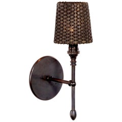 Elegant Brass Basket Wall Sconce