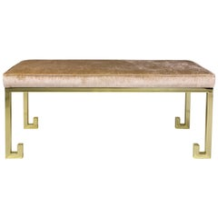 Elegant Brass Bench by Serge Castella, France, circa 2000