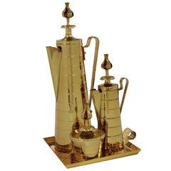 Elegant Brass Coffee Service by Tommi Parzinger