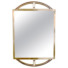 Elegant Brass Framed Wall Mirror, circa 1970, Italy