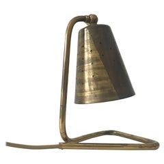 Elegant Brass Table Lamp by Hans Bergström Attributed, Sweden, 1950s