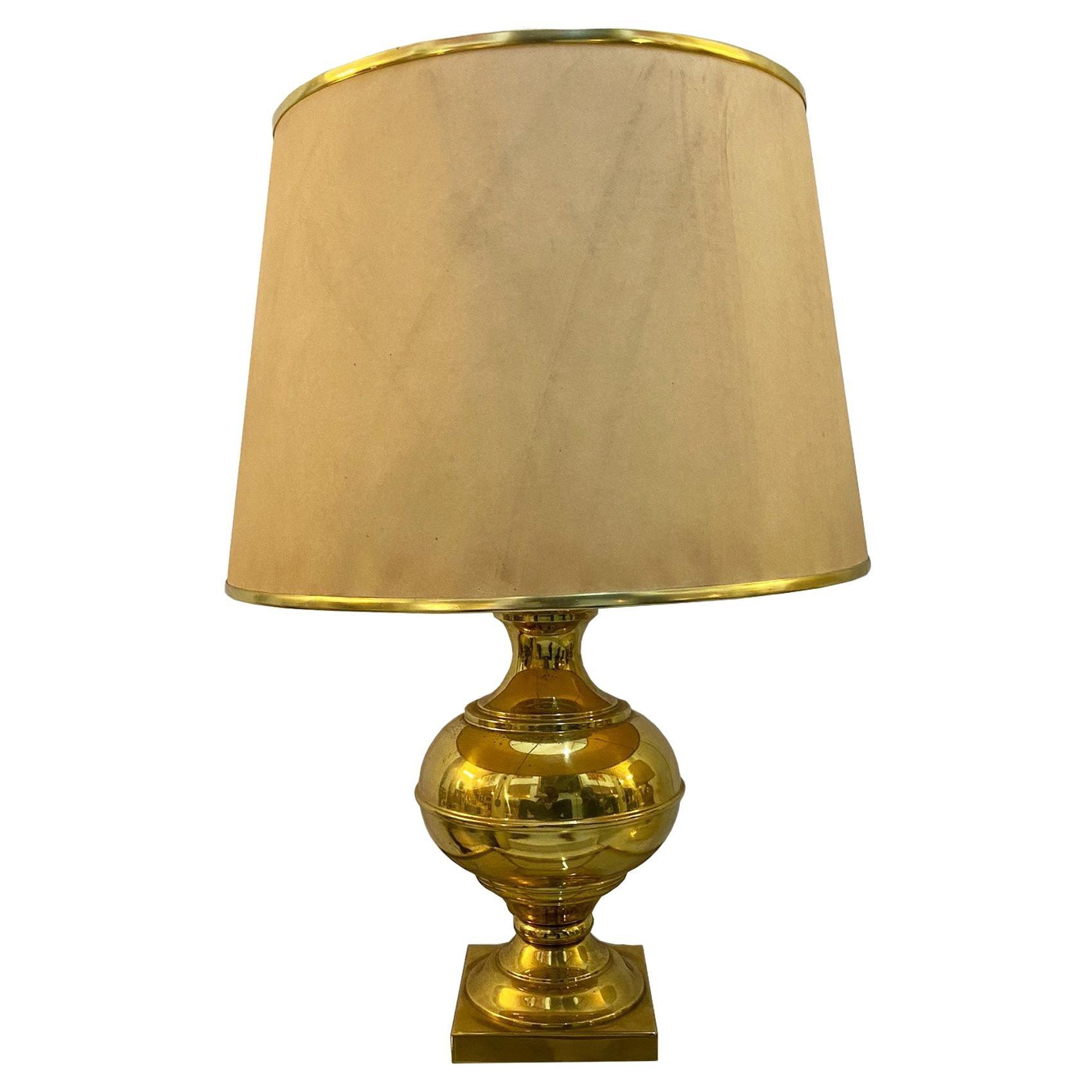Elegant Brass Table Lamp, Italy, 1960s