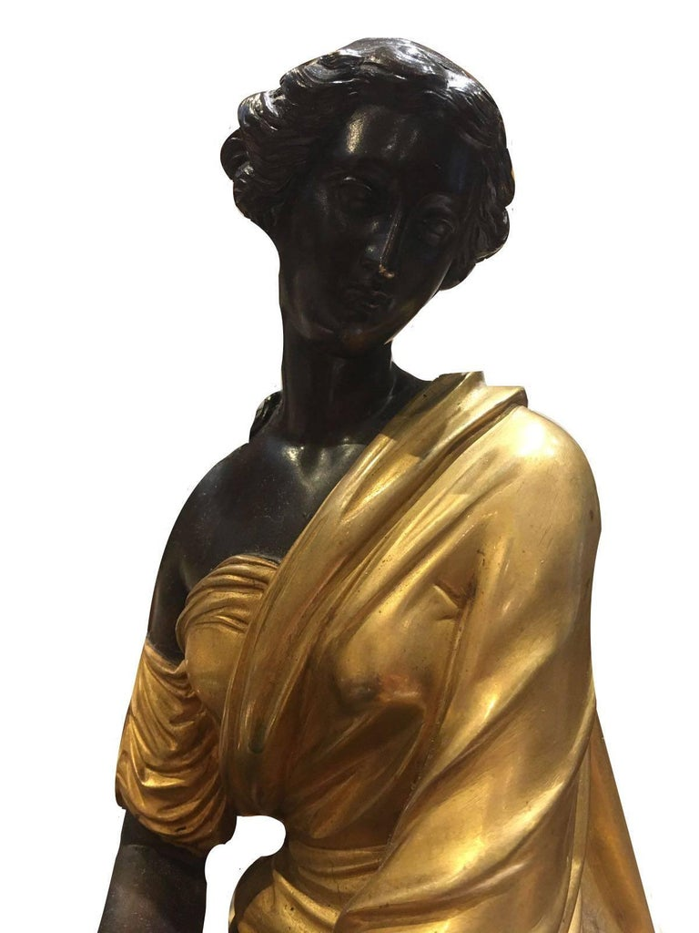 Other Elegant Bronze Figurine, a Female Sitting Down, Signed by François- Devaulx For Sale