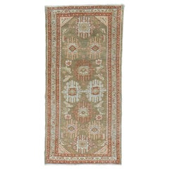 Elegant Brown Persian Malayer Throw Rug