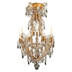 "Elegant ""Cage"" Chandelier Attributed to Maison Baguès"
