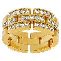 Elegant Cartier Panthere Link Ring