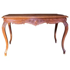 Elegant Carved Wood 19th Century French Louis XV Table Writing Desk