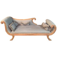 Elegant Chaise Longue in Empire Style