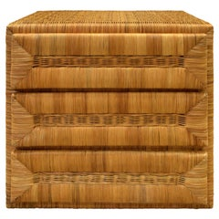 Elegant Chest of Drawers in Rattan, 1970s