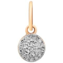 Elegant Classic Combination Every Day White Diamond Rose Gold Pendant