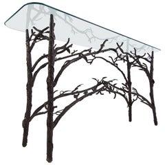 Elegant Contemporary Giacometti Style Console Table