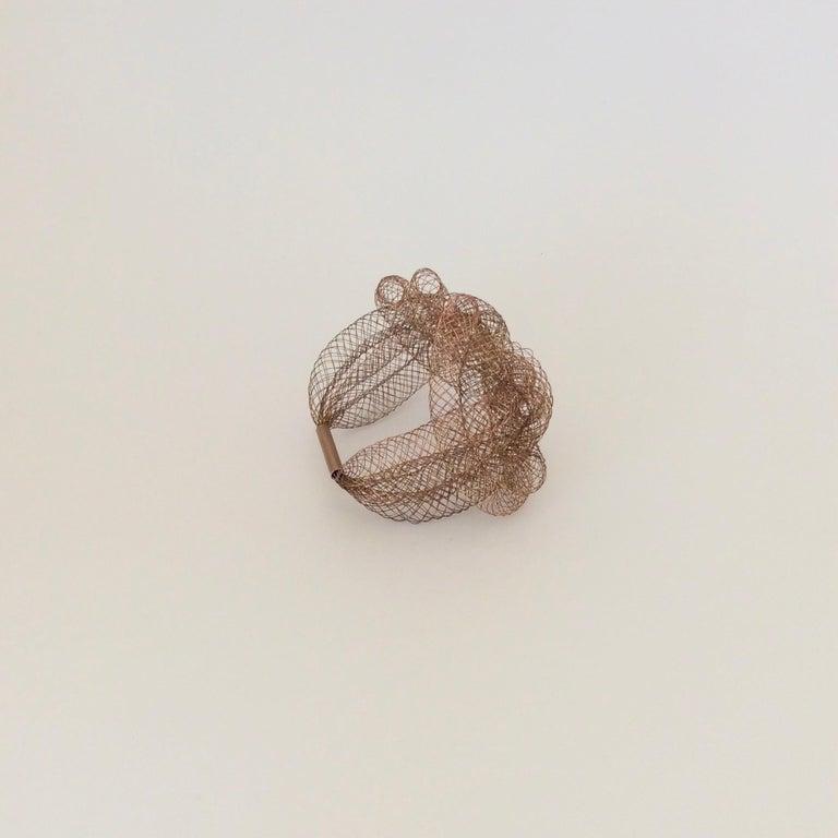 Elegant Copper Wire Bracelet, circa 1990, U.S.A For Sale 4