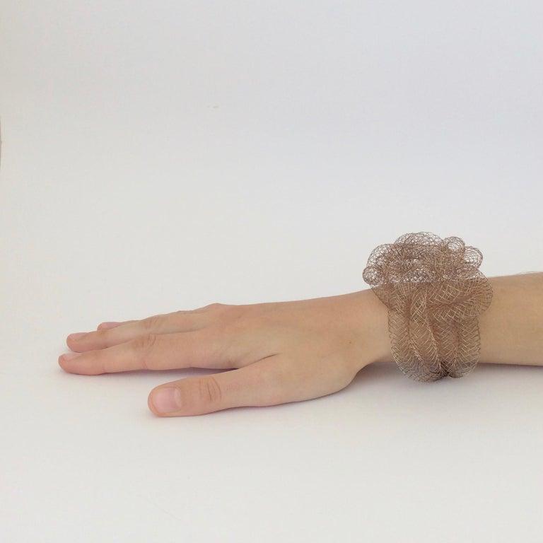 Elegant cooper wire bracelet, circa 1990, U.S.A. We ship worldwide
