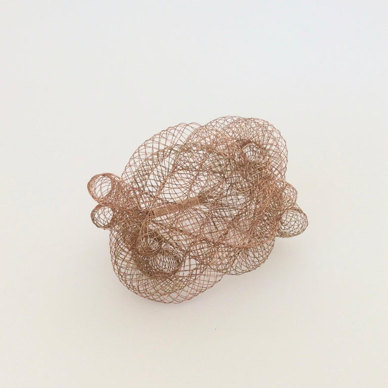 Elegant Copper Wire Bracelet, circa 1990, U.S.A In Good Condition For Sale In Brussels, BE