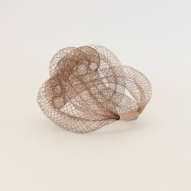 Elegant Copper Wire Bracelet, circa 1990, U.S.A For Sale 1