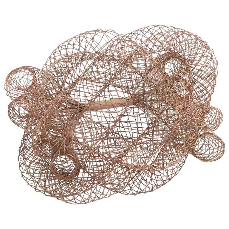 Elegant Copper Wire Bracelet, circa 1990, U.S.A For Sale