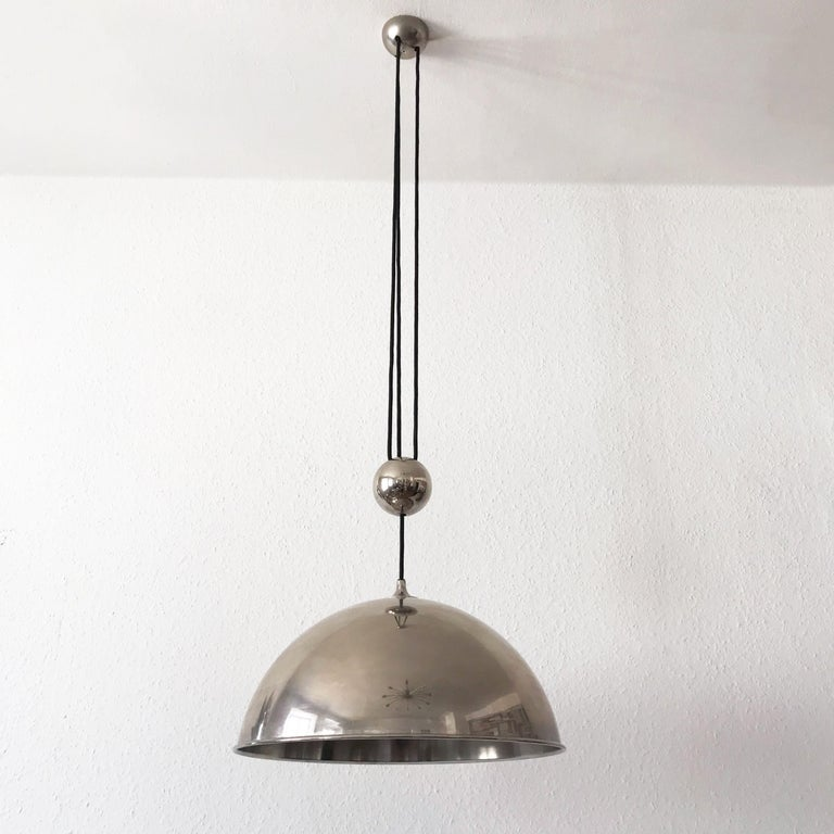 Elegant Counter Balance Pendant Lamp by Florian Schulz Germany 1980s For Sale 4
