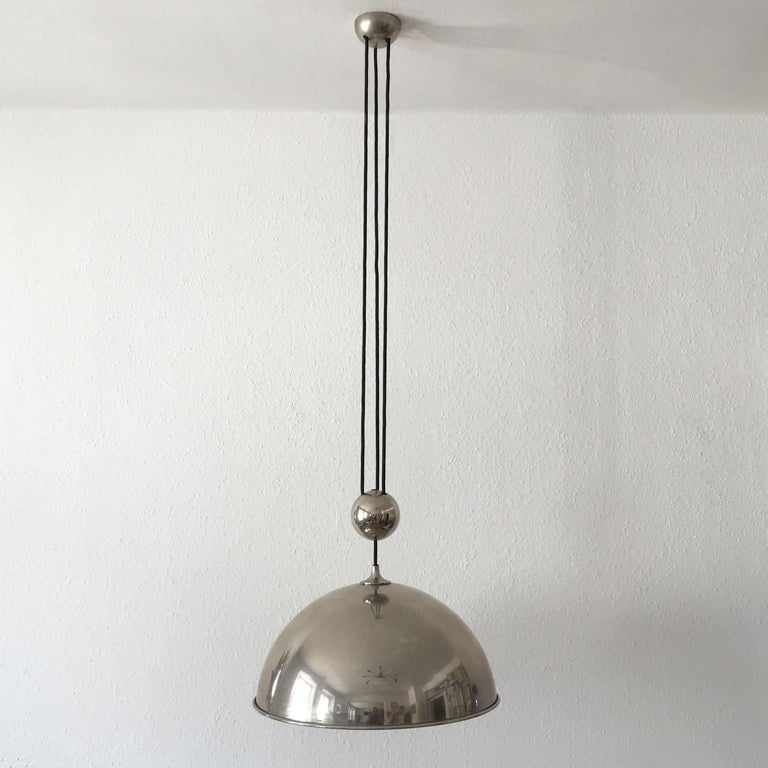 Elegant Counter Balance Pendant Lamp by Florian Schulz Germany 1980s For Sale 5