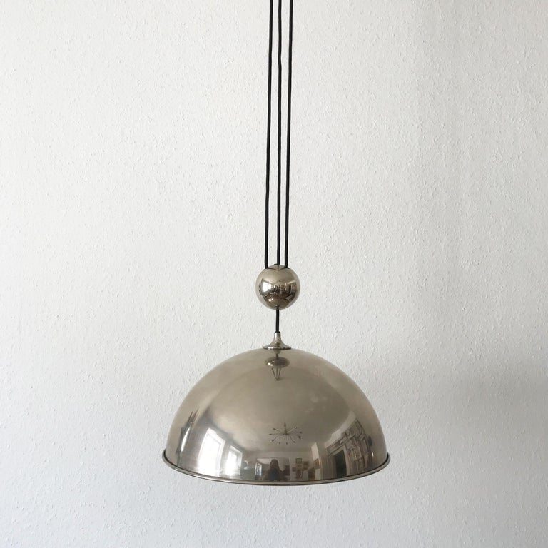 Elegant Counter Balance Pendant Lamp by Florian Schulz Germany 1980s For Sale 6