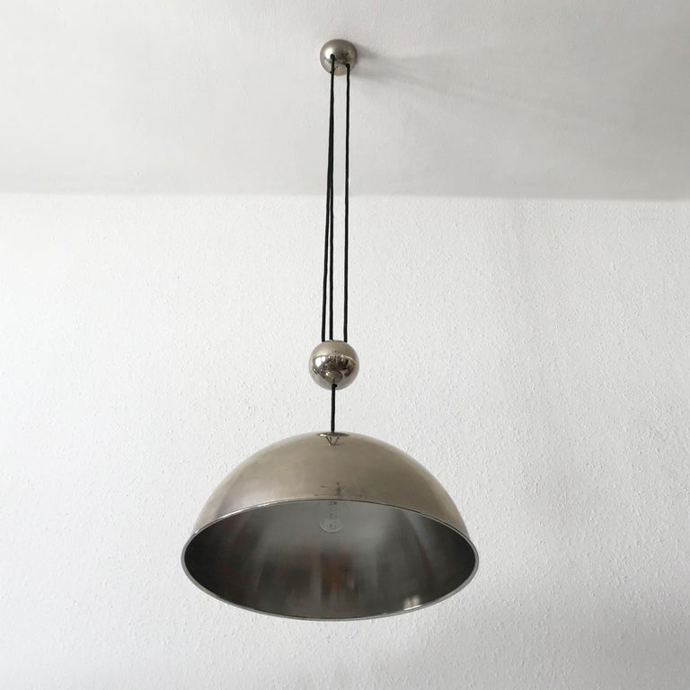 Elegant Counter Balance Pendant Lamp by Florian Schulz Germany 1980s For Sale 8