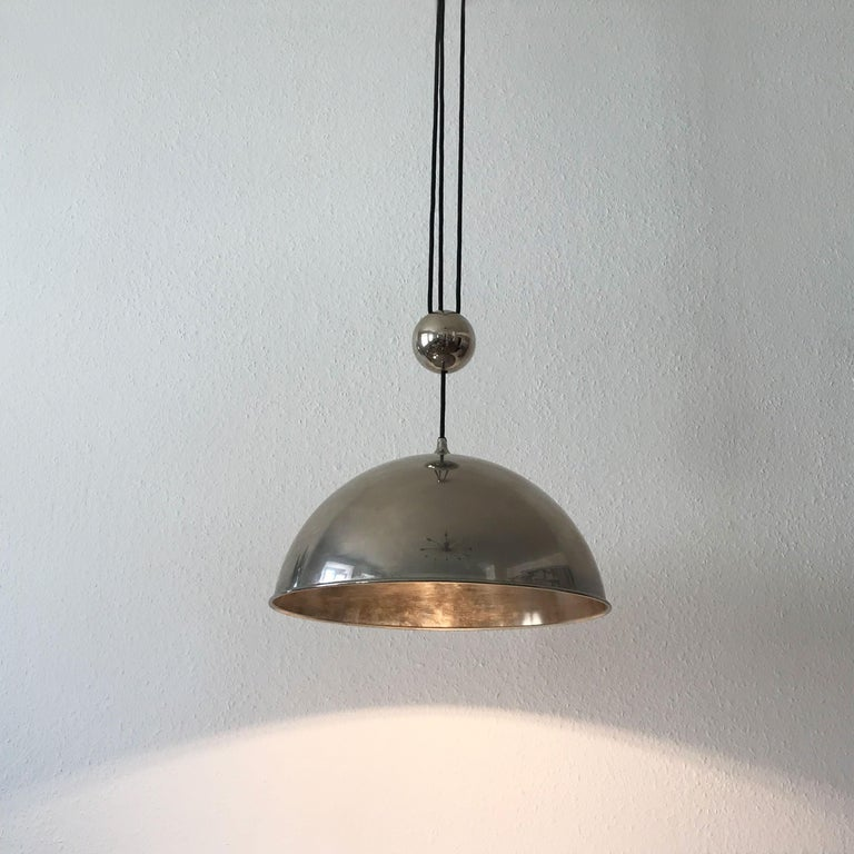 Elegant Counter Balance Pendant Lamp by Florian Schulz Germany 1980s For Sale 9