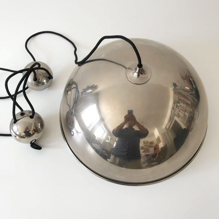Elegant Counter Balance Pendant Lamp by Florian Schulz Germany 1980s For Sale 10