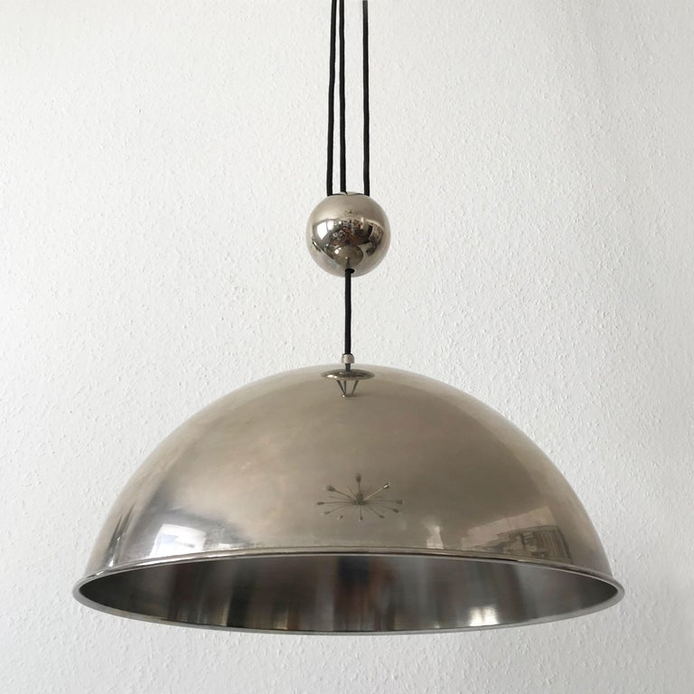 Late 20th Century Elegant Counter Balance Pendant Lamp by Florian Schulz Germany 1980s For Sale