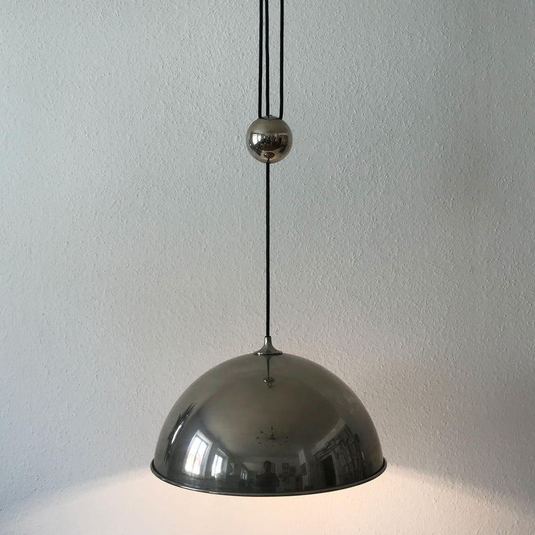 Elegant Counter Balance Pendant Lamp by Florian Schulz Germany 1980s For Sale 1