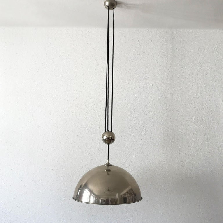Elegant Counter Balance Pendant Lamp by Florian Schulz Germany 1980s For Sale 2