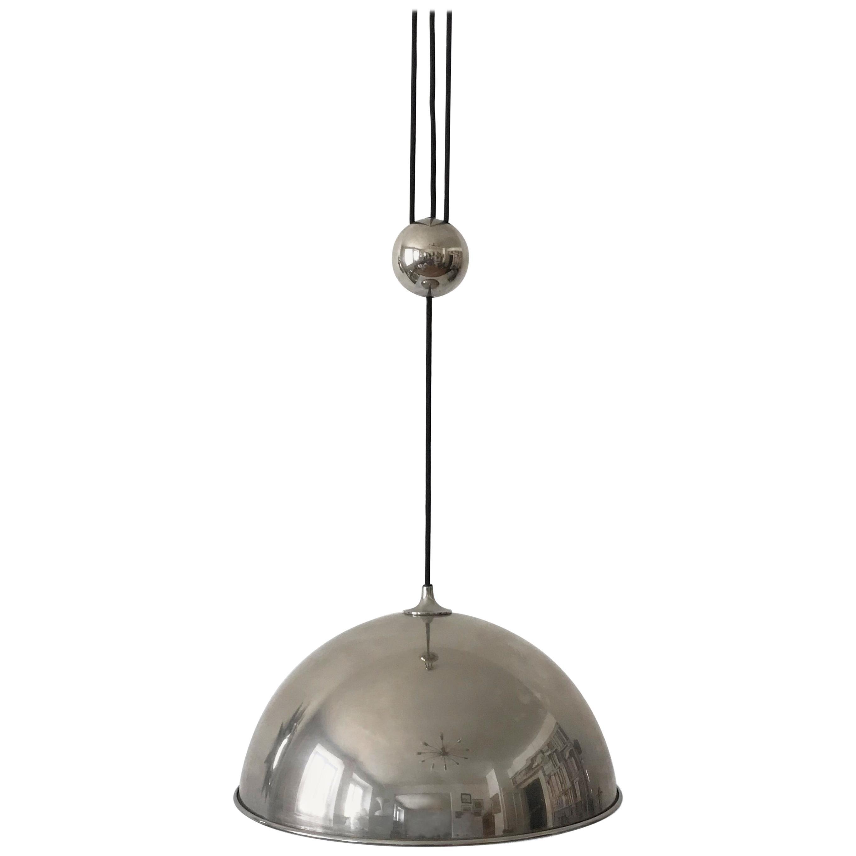 Elegant Counter Balance Pendant Lamp by Florian Schulz Germany 1980s