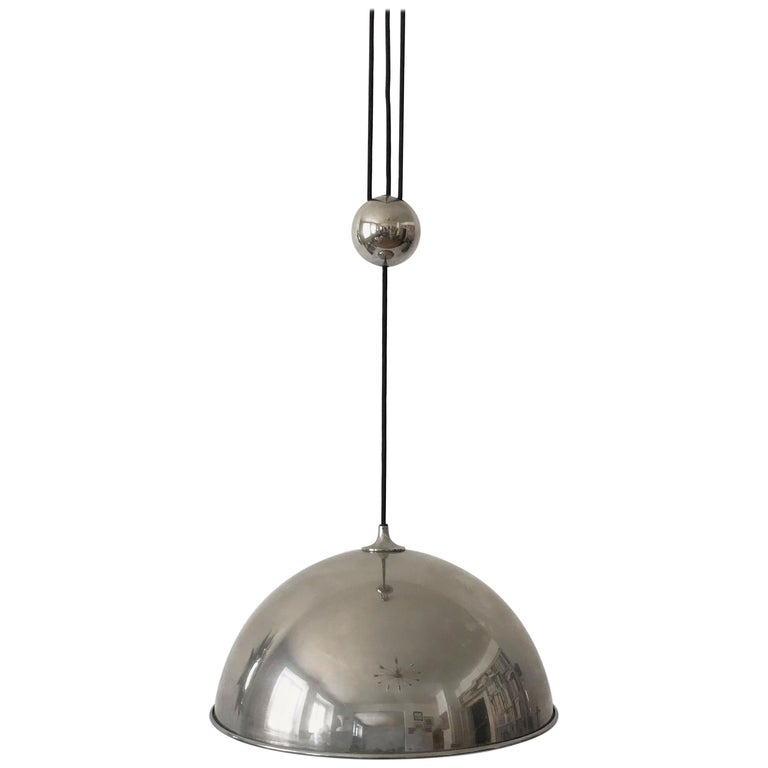 Elegant Counter Balance Pendant Lamp by Florian Schulz Germany 1980s For Sale