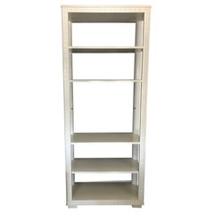 Elegant Creamy White English Country Style Bookcase Étagère