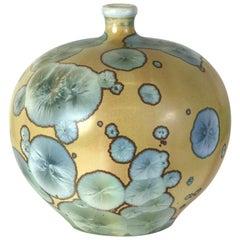 Elegant Crystalline Glaze Porcelain Vase, University City, Taxile Doat