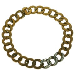 Elegant Curb Link Pave Chain Necklace