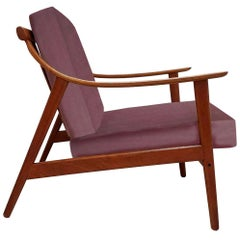 Elegant Customized Danish Easy Chair in Lelievre Velvet, 1960s