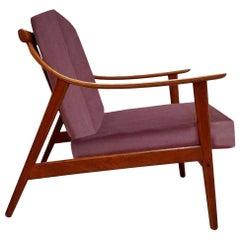 Elegant Customized Danish Easy Chair in Lelievre Velvet, 1960s